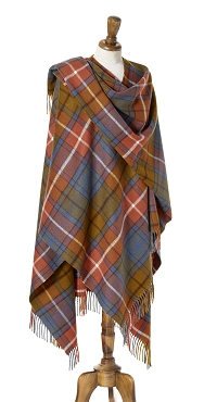 Tartan Antique Buchanan Full Size Ruana - 100% Merino Lambswool