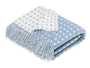 Spot - Eau De Nil Merino Lambswool Throw Blanket Milan