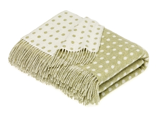Merino Lambswool Throw Blanket Milan - Spot - Sage