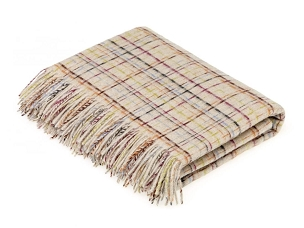 Merino Lambswool Throw Blanket Milan - Cairo - Beige
