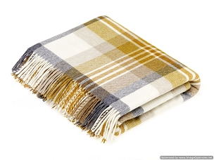 Merino Lambswool Throw Blanket Milan - Melbourne - Gold