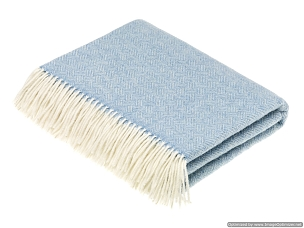 Merino Lambswool Throw Blanket Milan - Parquet - Aqua