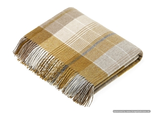 Florence - Gold Merino Lambswool Throw Blanket Milan