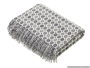 Gray Merino Lambswool Throw Blanket Milan