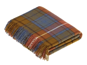 Merino Lambswool Throw Blanket in Ancient Buchanan Tartan