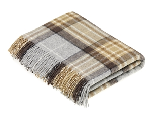 Merino Lambswool Throw Blanket in McKellar Tartan