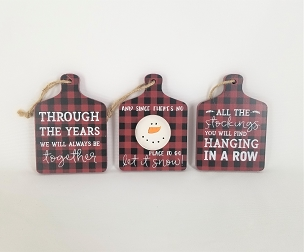 Let It Snow Cutting Board Ornaments