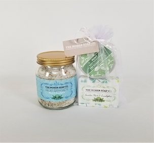 Mint and Eucalyptus Bath Set