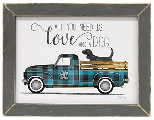 Love and A Dog Framed