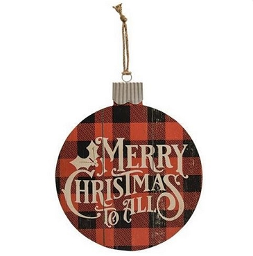 Bulb Shaped Merry Christmas Sign