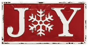 Enamel Joy Wall Sign