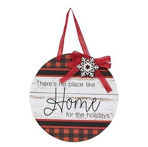 Home For the Holidays Door Sign