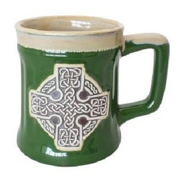 Celtic Cross Pottery Mug