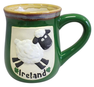 Ireland Sheep Pottery Mug