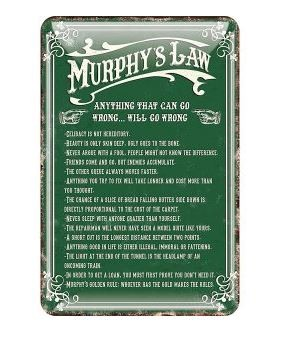 Metal Murphy's Law Sign