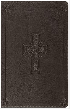 Embossed Celtic Cross Thinline Bible (ESV)