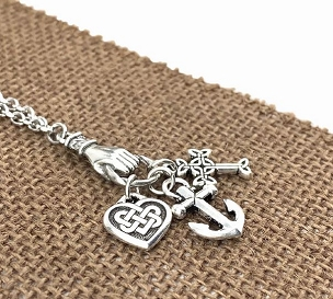 Celtic Faith, Hope and Love Necklace