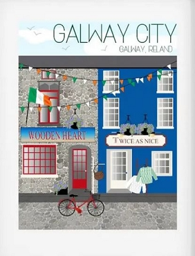 Ireland Travel Print - Galway City (8x10)