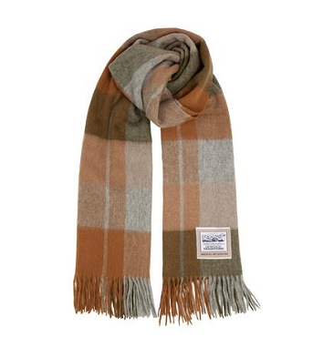 Woodland Check Wool Scarf