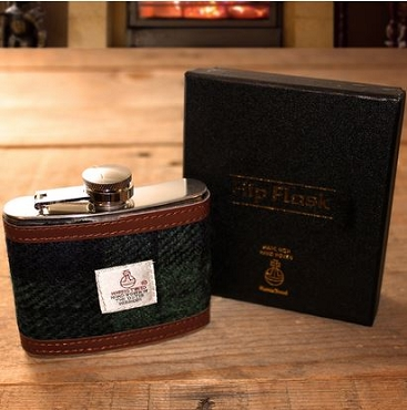 4 oz Harris Tweed Hip Flask