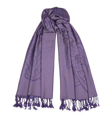 Heather Celtic Jacquard Scarf