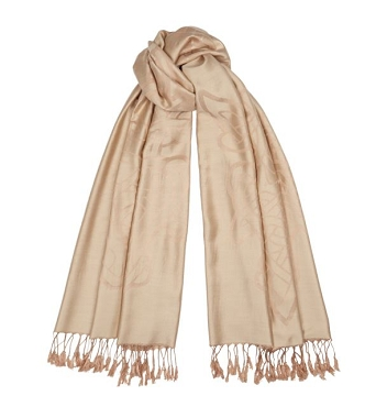 Celtic Thistle Scarf - Camel