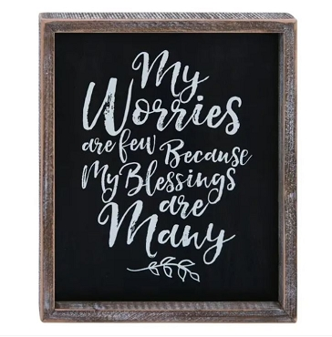 Worries and Blessings