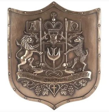 Christian Coat of Arms Wall Plaque