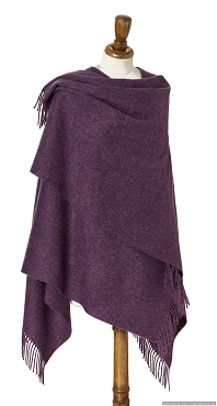 Purple Heather Mini Ruana - 100% Merino Lambswool