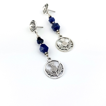Thistle and Sodalite Pendant Earrings