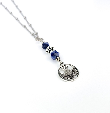 Thistle and Sodalite Pendant Necklace