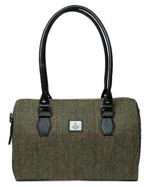 Harris Tweed Bowling Bag - Moss Green