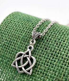 Silver Celtic Knot Charm Necklace